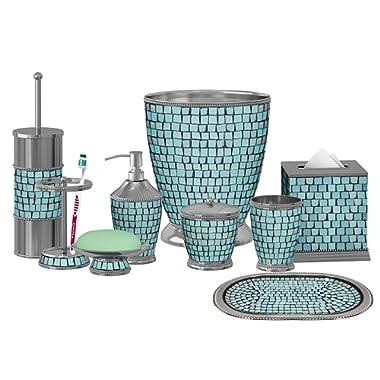 nu steel Iceberg Aqua Mosaic Bath Set (Set of 9),
