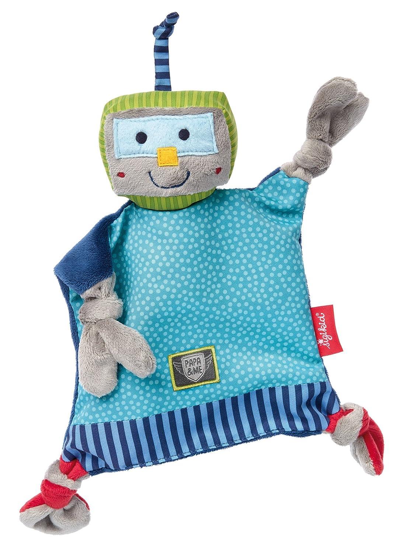 sigikid, 41674 Bébé Garçon Doudou Chiffon Robot, Papa & Me sikigid Sigikid41674