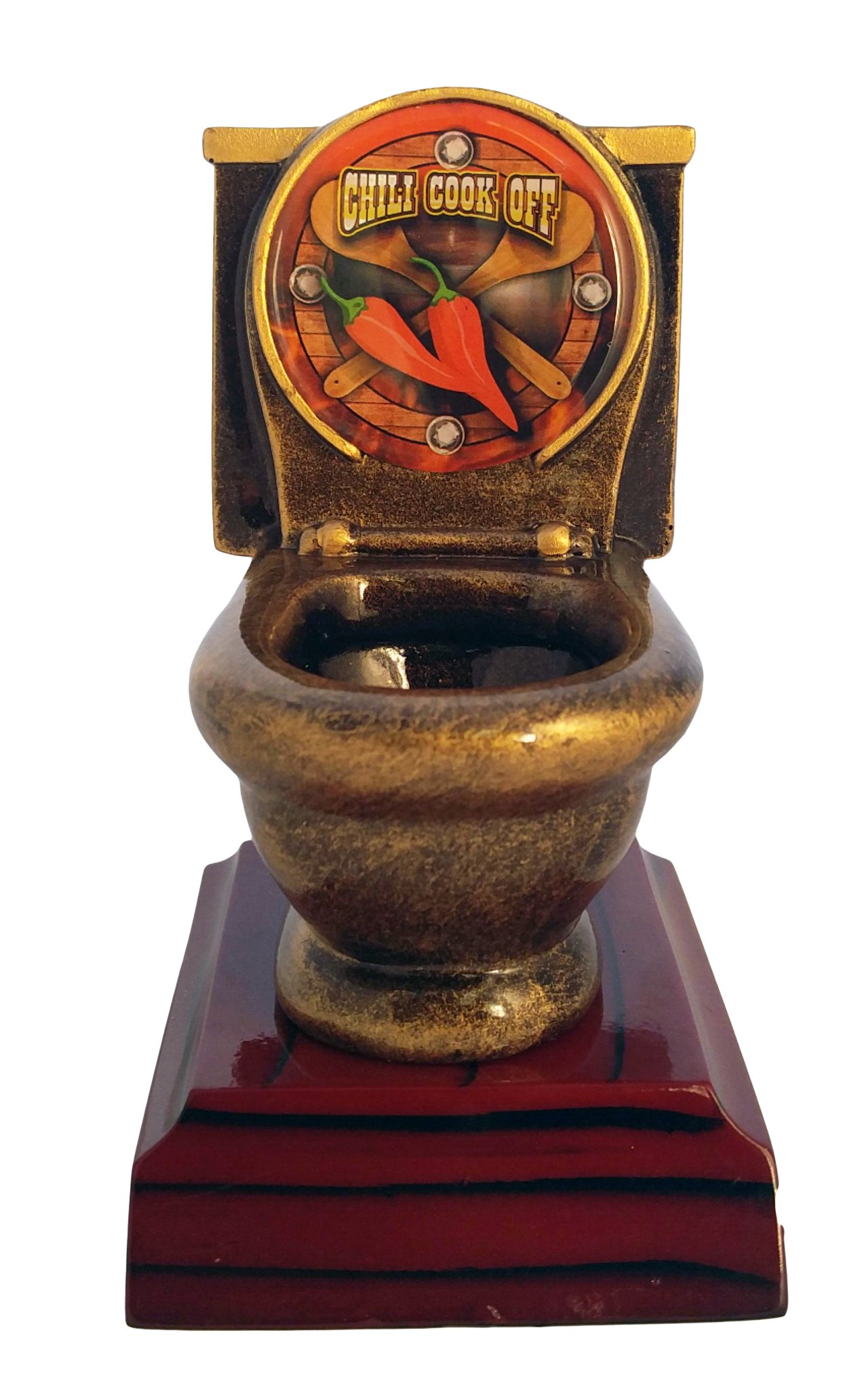 Decade Awards Chili Cook-Off Toilet Bowl Trophy/Chilli Competition Award/Last Place Award | 5 Inch