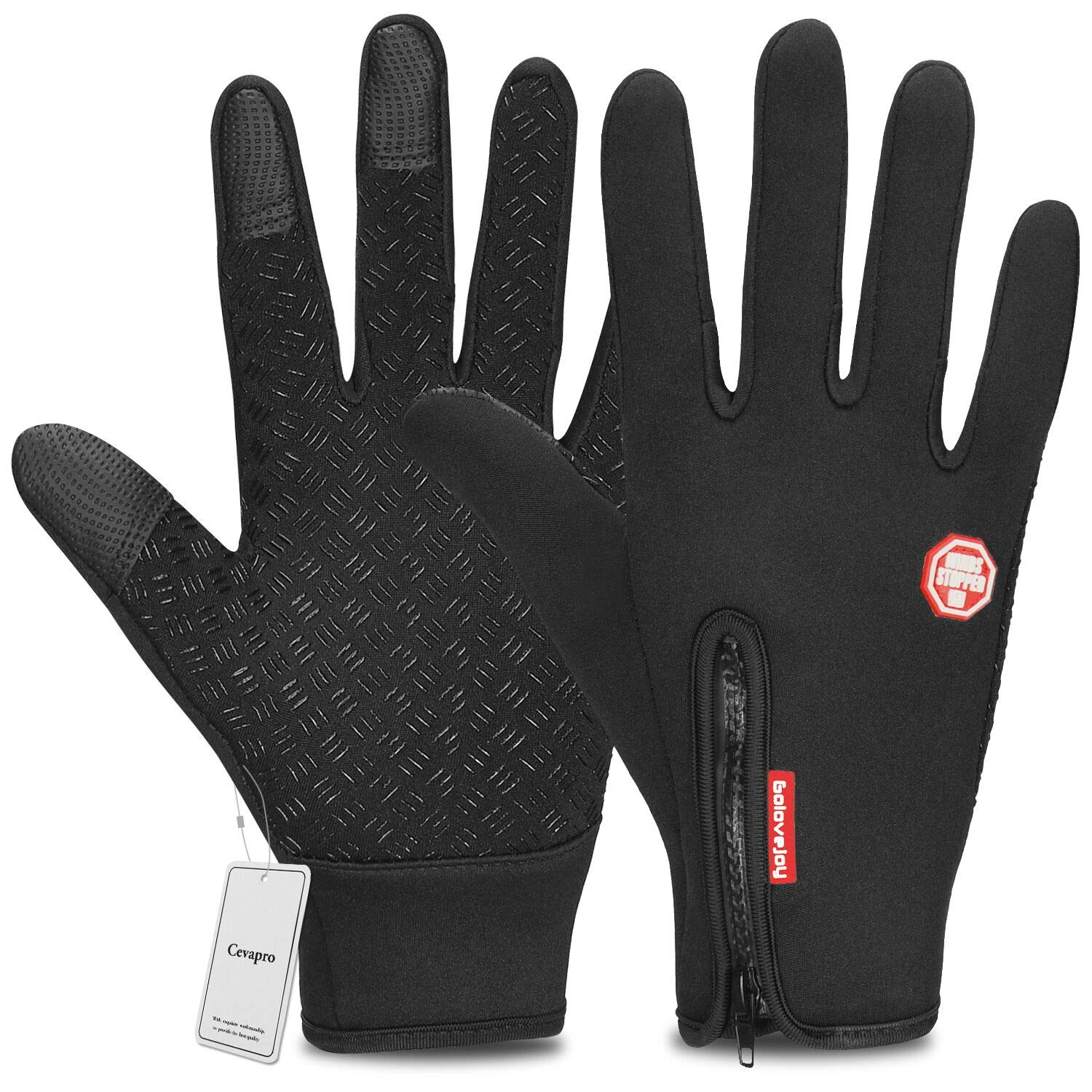 Cevapro Cycling Gloves Touchscreen Winter Warm Gloves for Running Riding