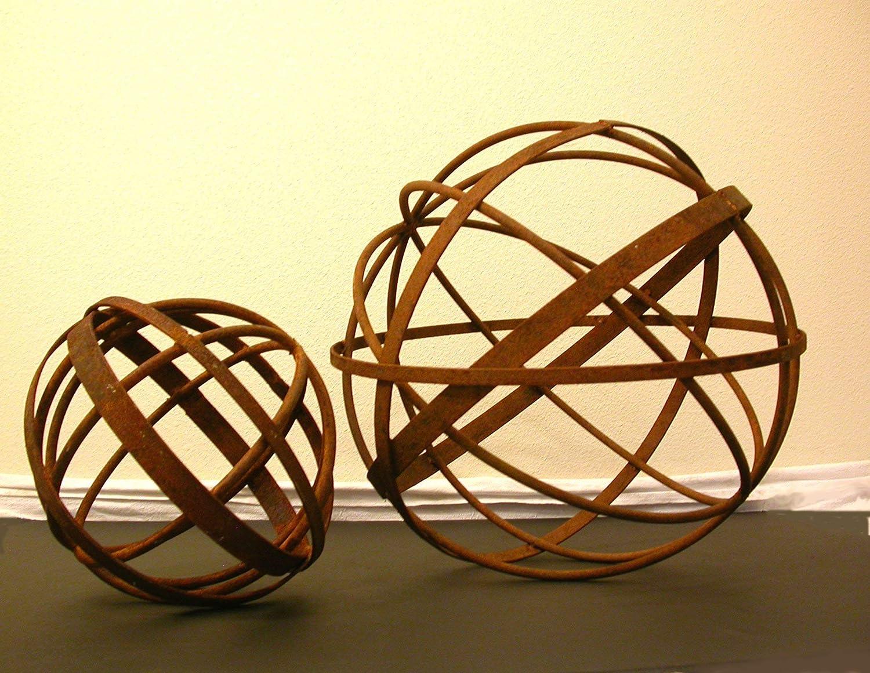 Amazon Com Garden Art Metal Sphere Sculpture 24 Decorative