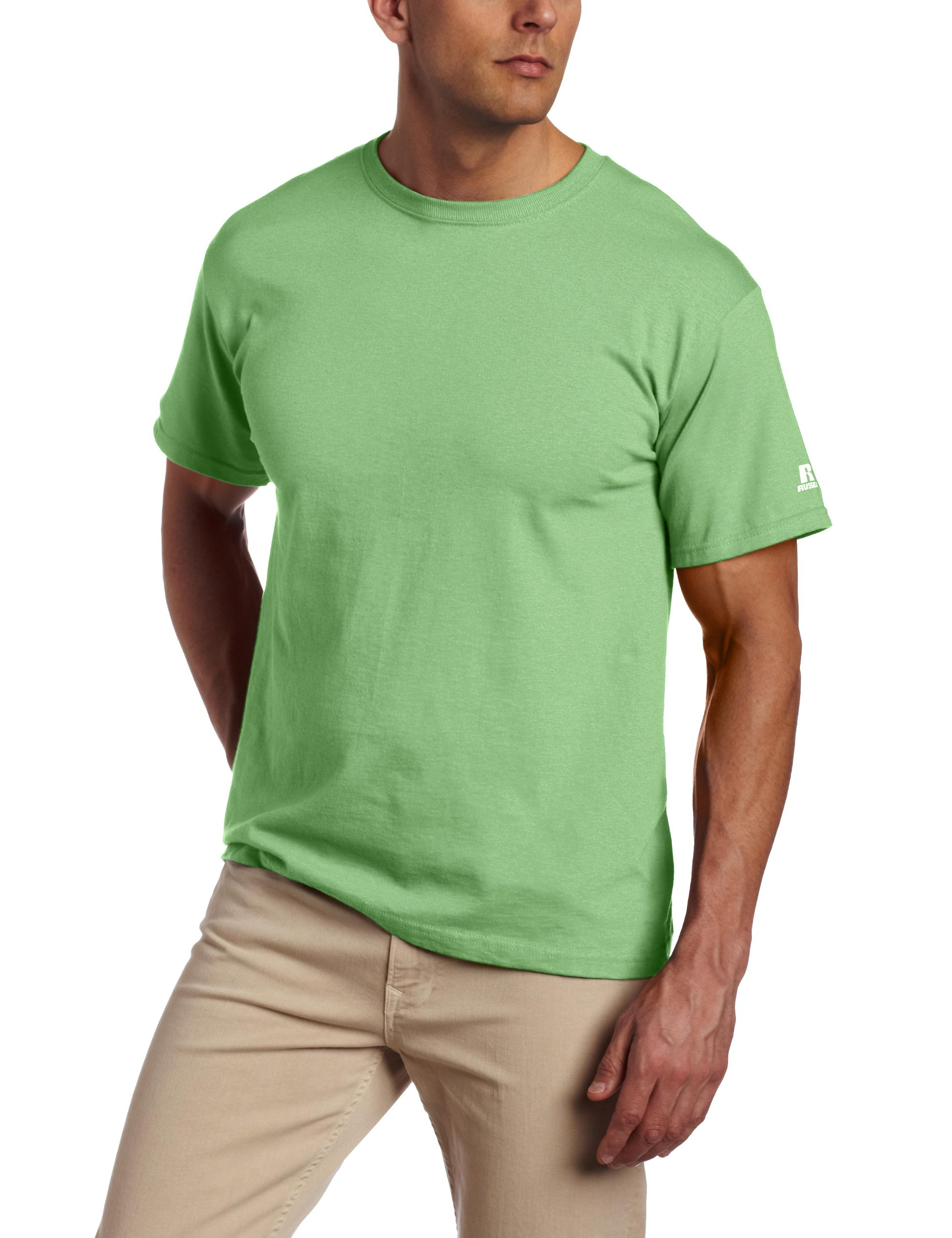 Russell Athletic Men's Basic Cotton Tee Small Shockwave Green