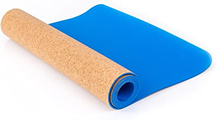 Blissful Living Eco Friendly Cork Yoga Mat 72 x 24 – Anti-Slip and Extra Thick to Protect your Knees and Body, The Perfect Yoga Accessory Durable, ...