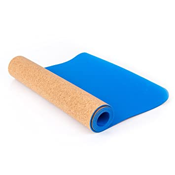 Blissful Living ECO friendly corcho Yoga Mat 72 x 24 x 5 mm ...