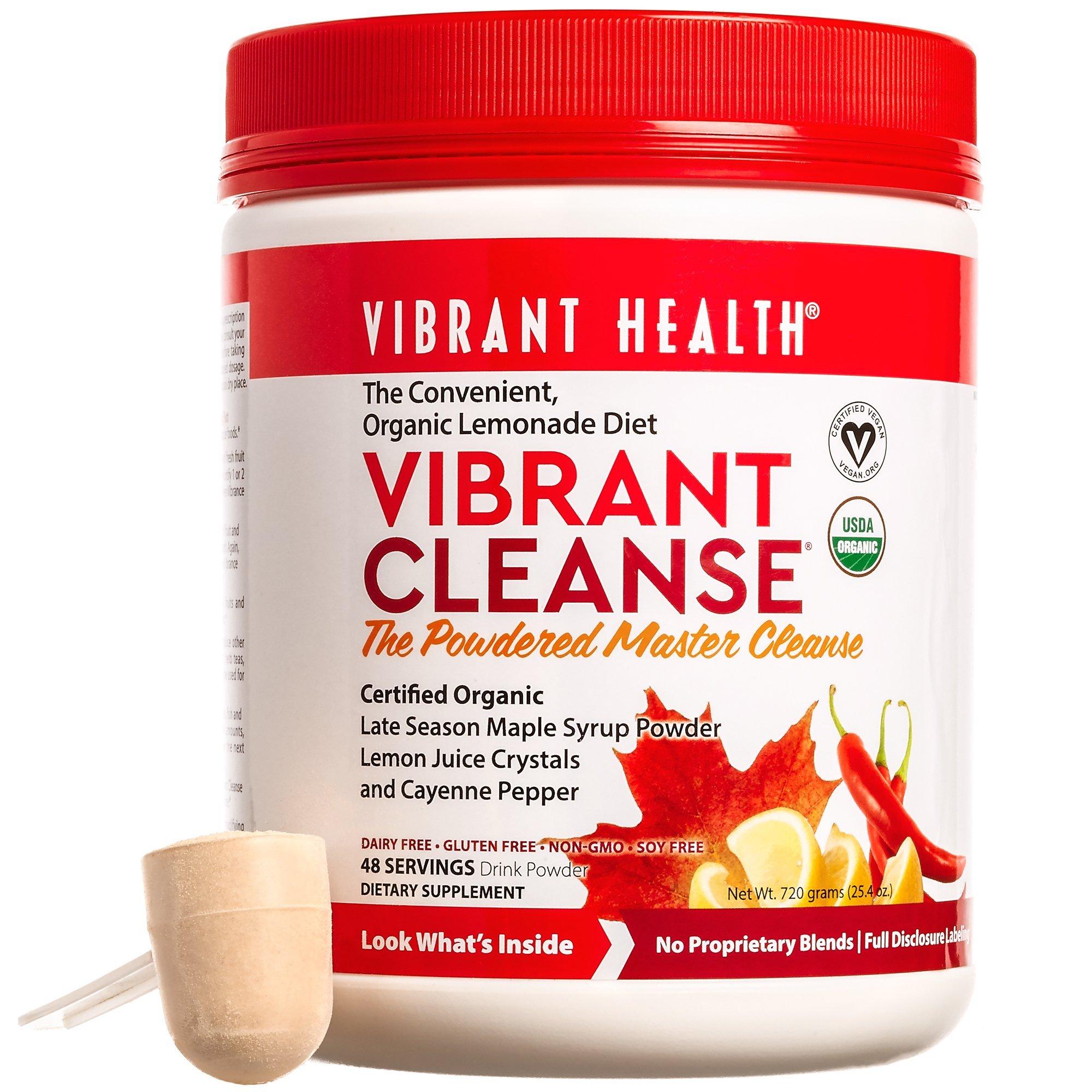 Vibrant Health - Vibrant Cleanse, The Convenient Organic Lemonade Diet, 48 Servings by Vibrant Health