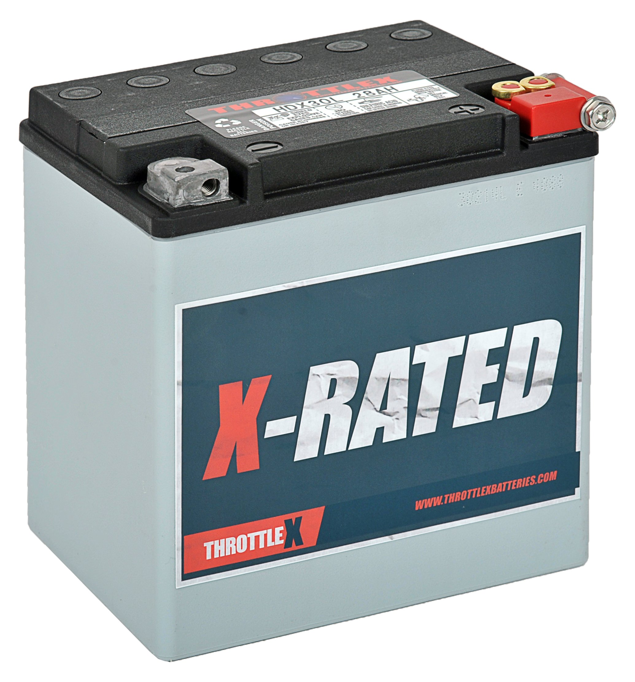 THROTTLEX HDX30L - MADE IN AMERICA - Harley Davidson Replacement Motorcycle Battery by THROTTLEX