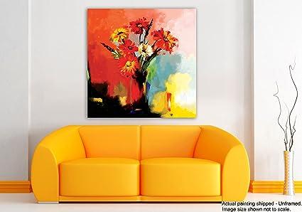 Tamatina Modern Art Canvas Painting - Gorgeous Flower pot - Nature ...