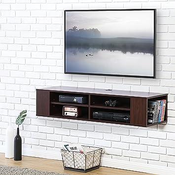 FITUEYES Madera Grano Mesa Flotante para TV Mueble para Audio Video 120x40cm Noguerado DS212001WB: Amazon.es: Electrónica