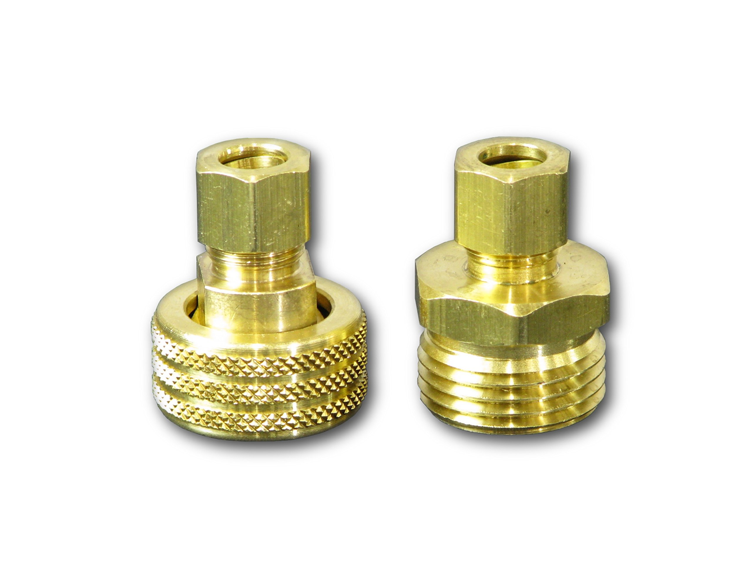Coldbreak Brewing Equipment CBCOV38 Brass 3/8'' Compression to Garden Hose Thread, Immersion Wort Chiller Conversion Kit, Male & Female Fittings