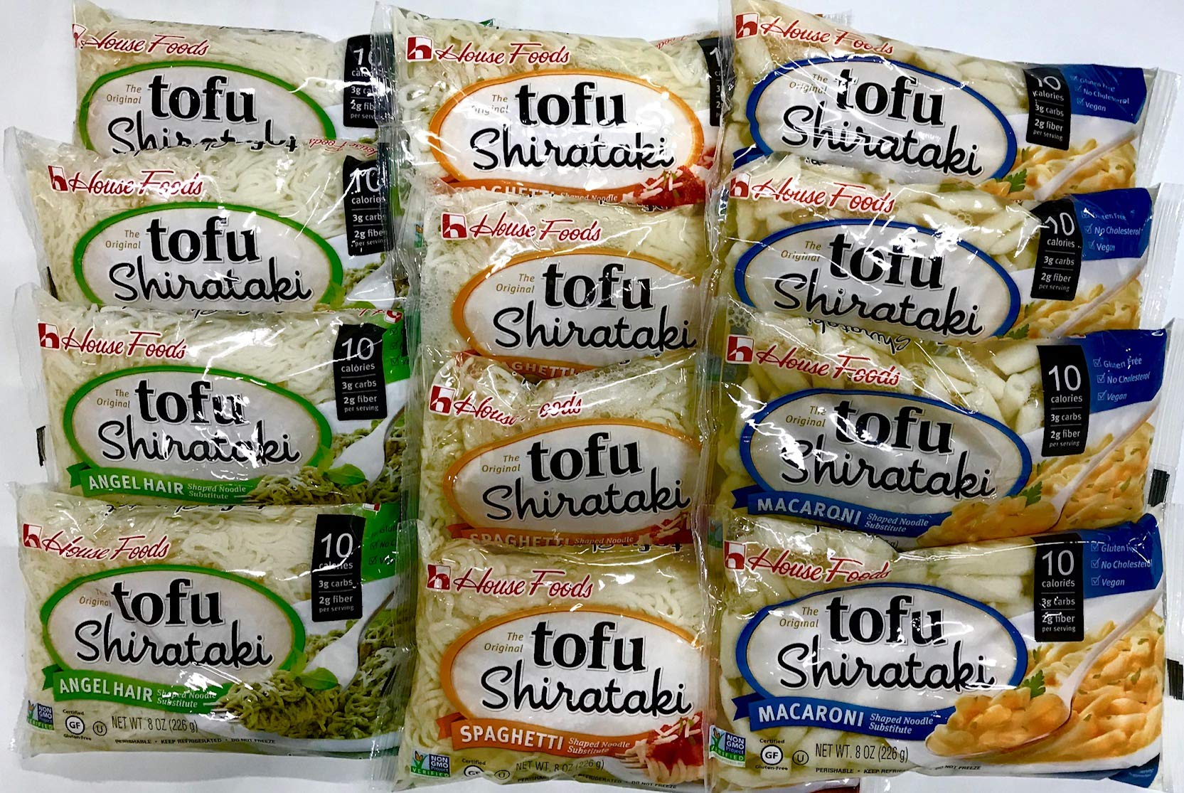 House Foods - 12 Bag Variety Pack Tofu Shirataki Noodles