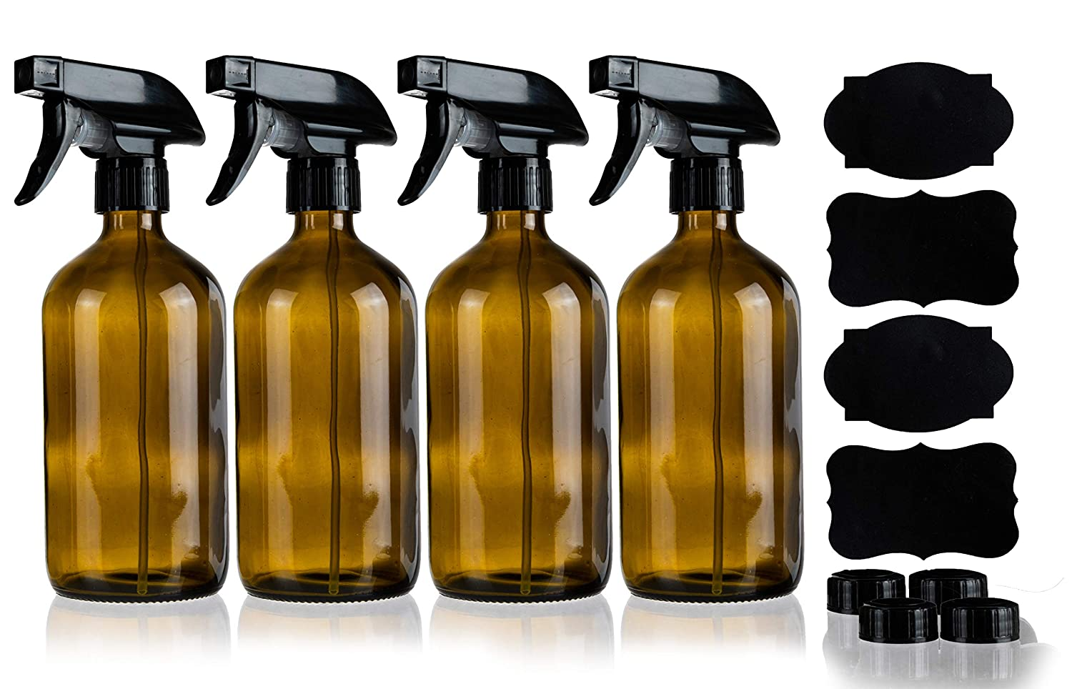 Amazon.com: Homeries Botellas de spray de ámbar vacías, 16 ...