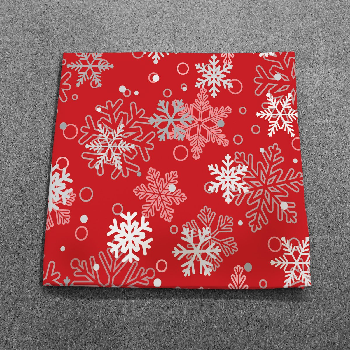 Handmade Winter Red Snowflakes Dinner Napkins Set of 12