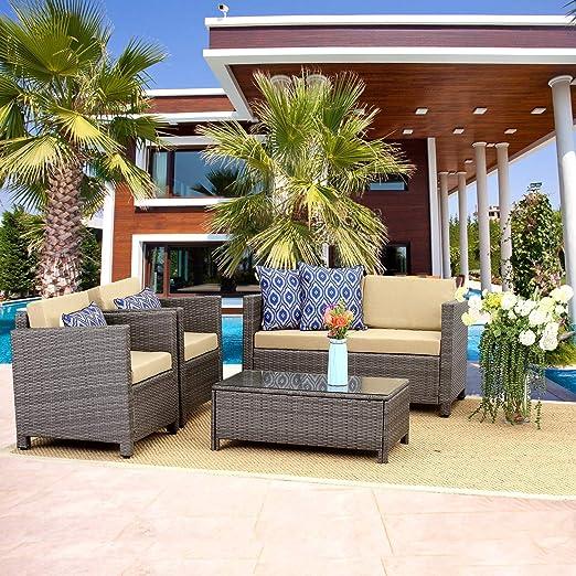 Amazon.com: Wisteria Lane - Juego de muebles para patio al ...