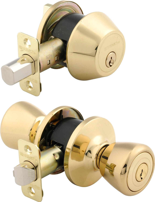 Etonnant Brinks 2102 105 Tulip Style Keyed Alike Door Knob And Deadbolt Combo Pack,  Polished Brass   Doorknobs   Amazon.com
