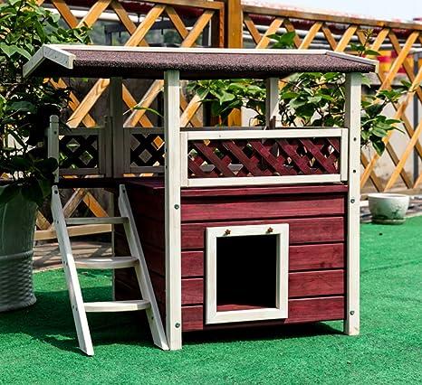 Amazon.com: Casa al aire libre para gato de 30x22x29 ...