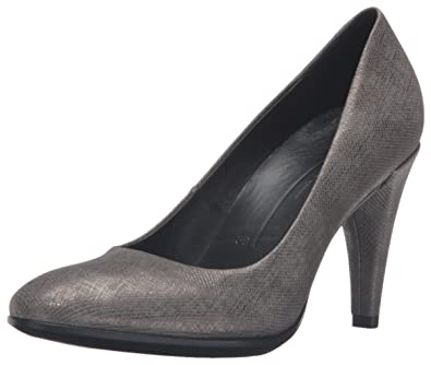ECCO Women's Women's Shape 75 Sleek Dress Pump, Warm Grey, 35 EU/4