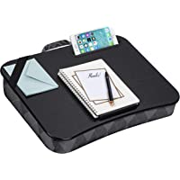LapGear Designer Lap Desk with Phone Holder and Device Ledge - Gray Argyle - Fits up to 15.6 Inch Laptops - Style No…