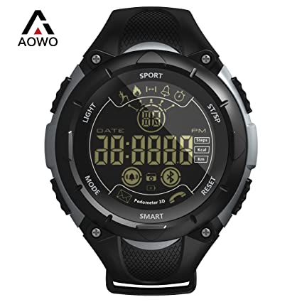 Amazon aowo x7 sports smart watch men digital bluetooth smart aowo x7 sports smart watch men digital bluetooth smart watch ip68 waterproof 5atm call sms notification stopboris Gallery
