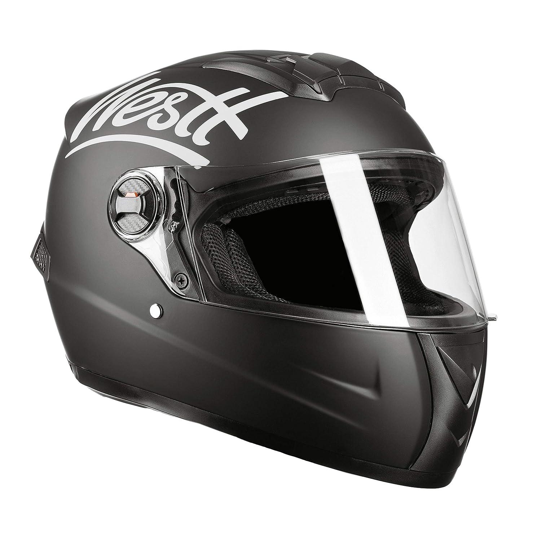 Westt Storm /· Casco Moto Integral en Negro Mate /· ECE Homologado