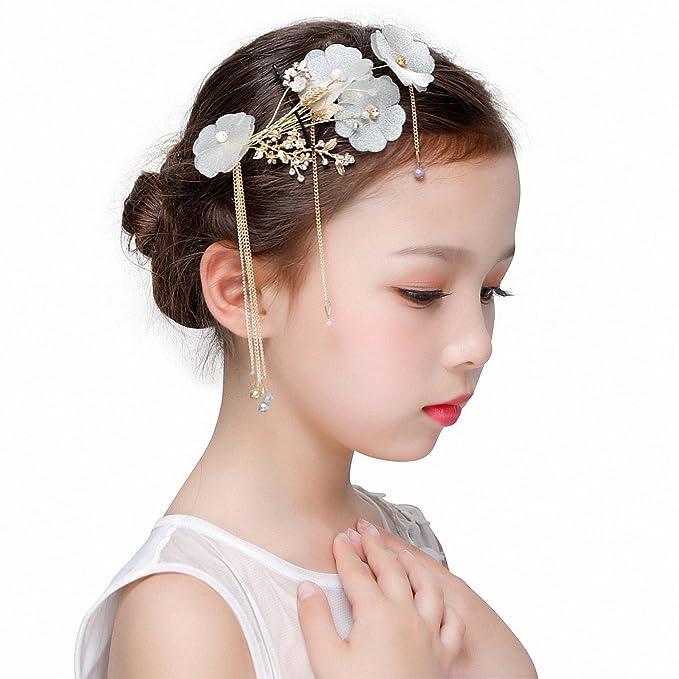 Amazon Com Kanrome Gold Color Tassel Headdress Hair Accessories
