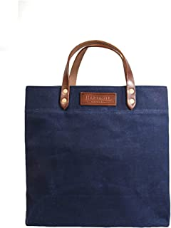 product image for Grocery Tote - Waxed Canvas - Navy - Made in USA
