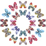 20 Pieces Butterfly Dreadlocks Beads Hair Cuffs Clips Rings Colorful Braiding Hair Jewelry for Women Girls Hair Accessories (