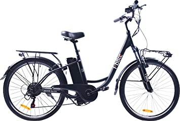 i-Bike City Easy Bicicleta eléctrica, Negro, 180 x 90 x 32 ...
