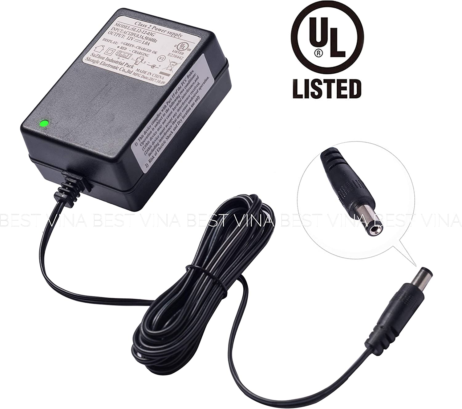 SHENGLE 12V Ride On Charger 12 Volt Battery Charger for Kid Trax Dynacraft Best Choice Products Wrangler SUV Huffy Battery Powered Ride On Car