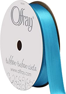"""product image for Berwick Offray 262979 5/8"""" Wide Single Face Satin Ribbon, Island Blue, 6 Yds"""