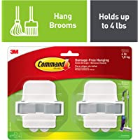 Command Broom & Mop Grippers, Holds up to 4 lbs (17007-HW2ES)
