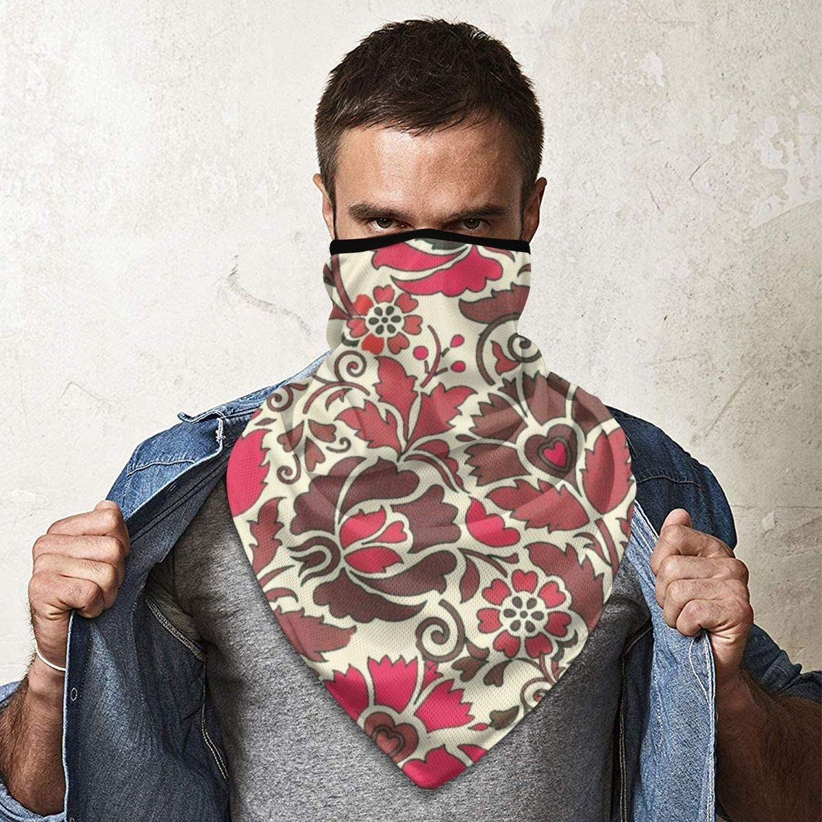 Seamless Floral Ethnic Art Pattern Neck Gaiter Warmer Windproof Mask Balaclava Face Mask Sports Mask For Outdoor Men And Women Free UV Personalized