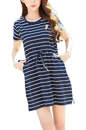 d6623dbe71f390 Epmami Women s Summer Striped Maternity Dress Nursing Dresses Breastfeeding  (Blue