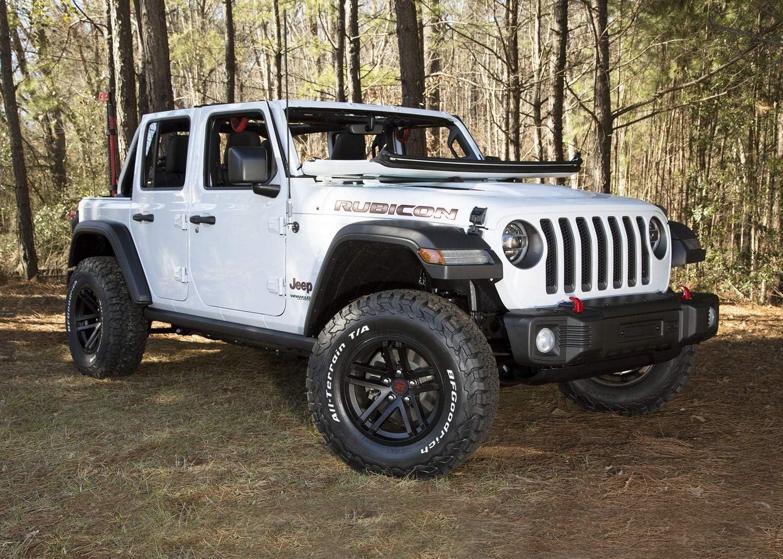 Black Satin; 07-19 Jeep Wrangler//Gladiator 17x9 Jesse Spade Wheel