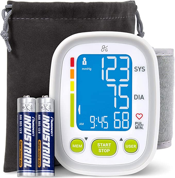 digital blood pressure monitor with wrist strap white health monitoring wrist blood pressure monitor with large LCD screen LucaSng blood pressure monitor cuff wrist