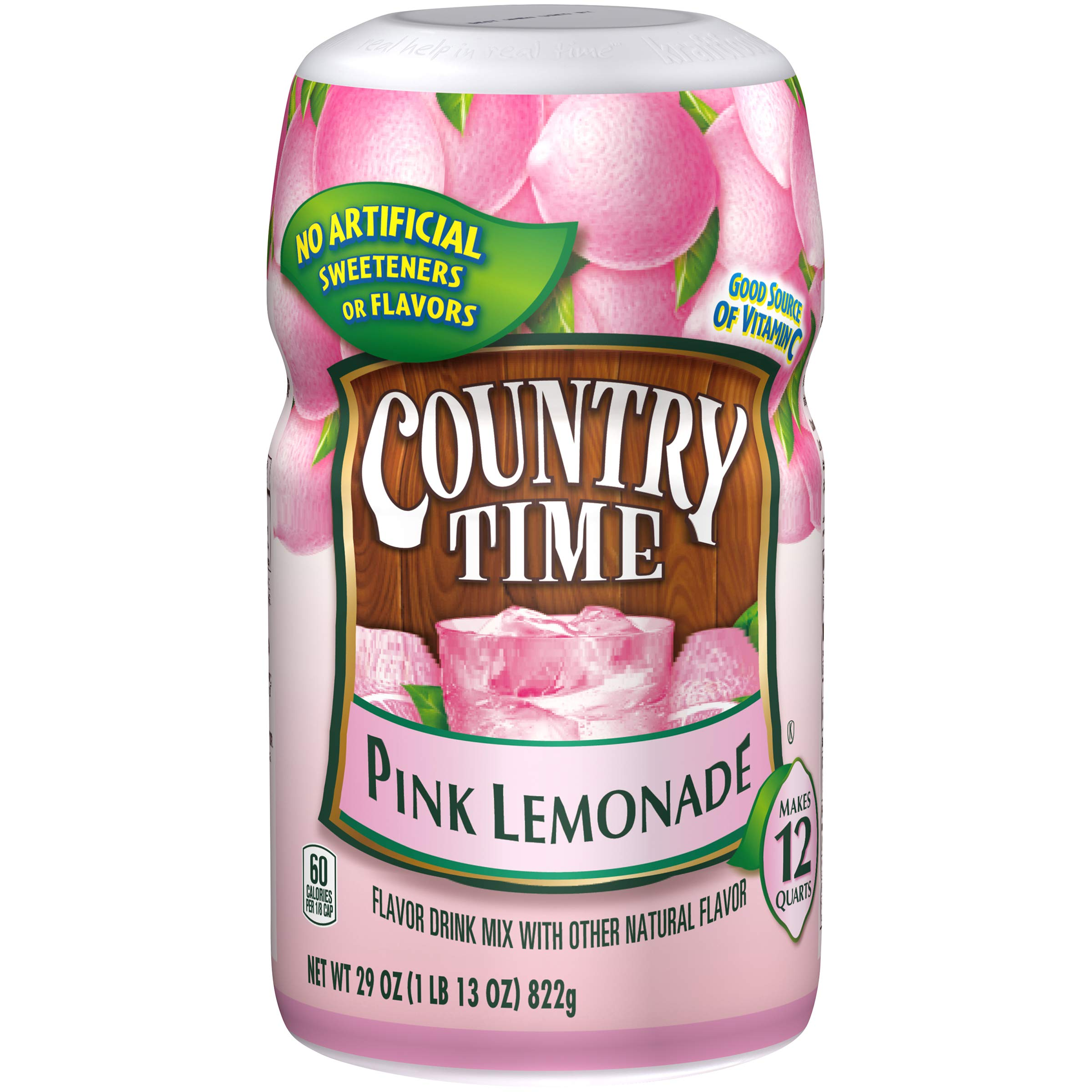 Country Time Pink Lemonade Drink Mix, 29 Ounce (Pack of 12)