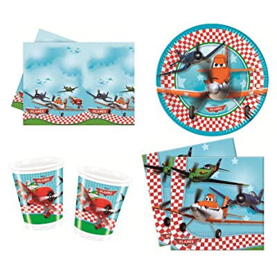 Disney Planes Party Tableware Pack for 8 Guests Including Cups, Plates, tablecover and Napkins! 37 Party Items!: Toys & Games