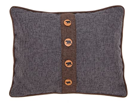 Amazon.com: Carstens Rugged Earth oso almohada decorativa ...