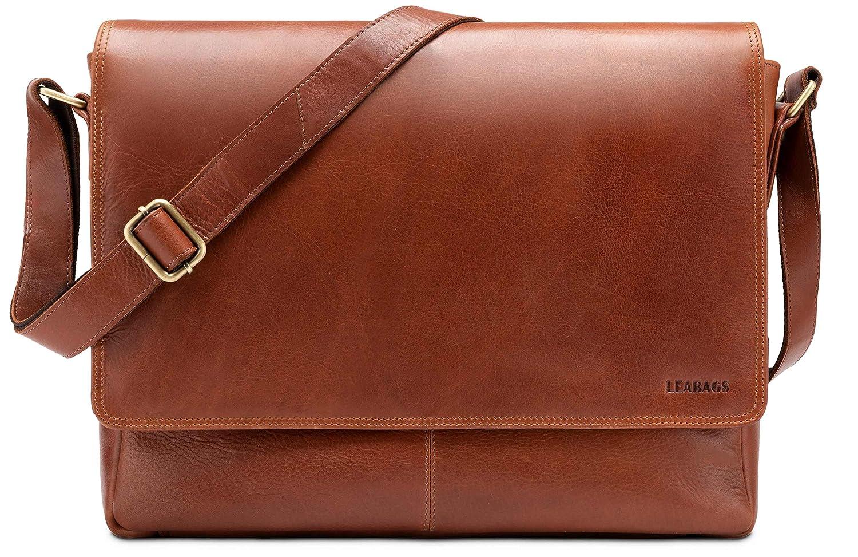 8d473b6337b27 LEABAGS Oxford Umh auml ngetasche Laptoptasche Laptoptasche Laptoptasche 15  Zoll aus Leder im Vintage Look - Onyxschwarz B07DXSHSL8 Messenger-Bags  37452b