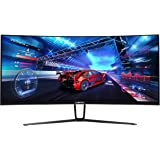Sceptre 35 Inch Curved UltraWide 21: 9 LED Creative Monitor QHD 3440x1440 Frameless AMD Freesync HDMI DisplayPort Up to 100Hz