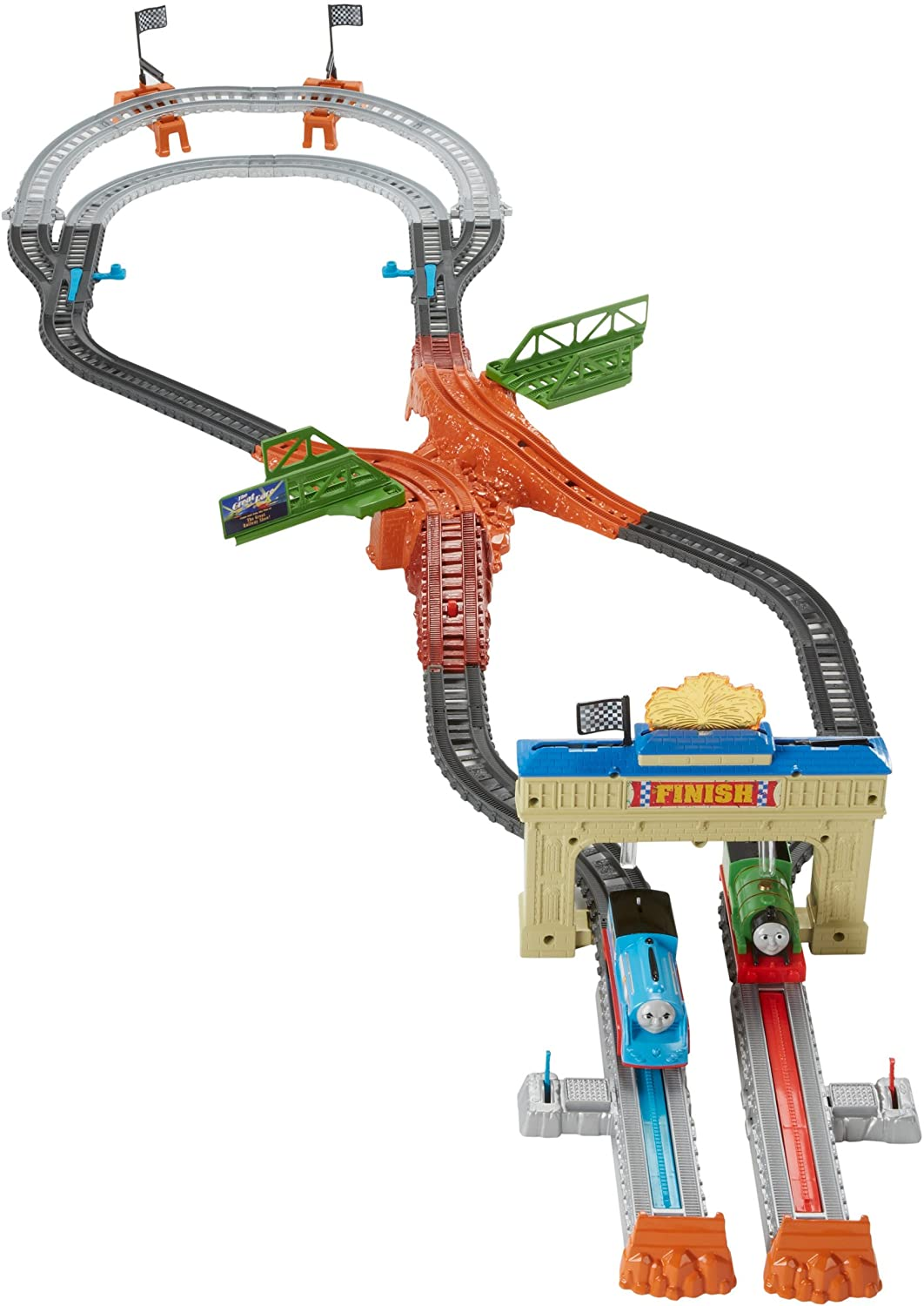 Fisher price thomas amp friends trackmaster treasure chase set new - Amazon Com Fisher Price Thomas Friends Trackmaster Motorized Railway Race Playset Toys Games