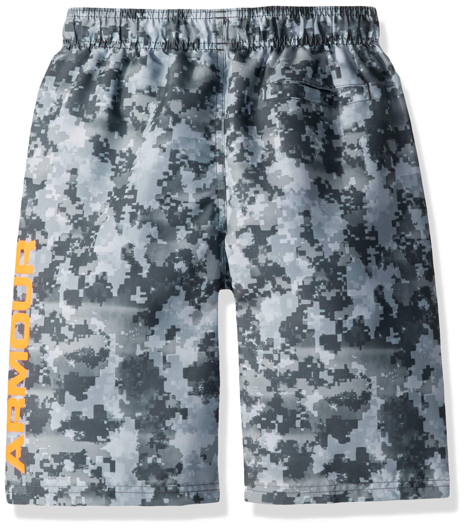 Under Armour Big Boys' Volley Fashion Swim Trunk, Moderate Gray-S19, YSM by Under Armour (Image #2)