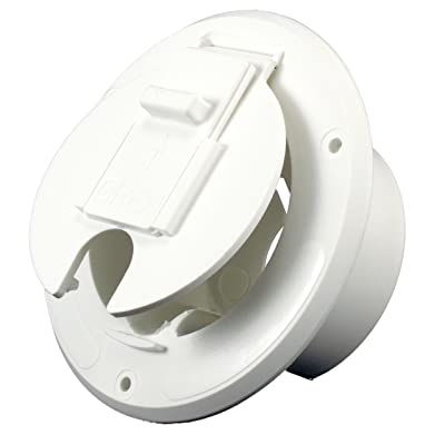 JR Products White 30 Amp Round Electric Cable Hatch: Automotive