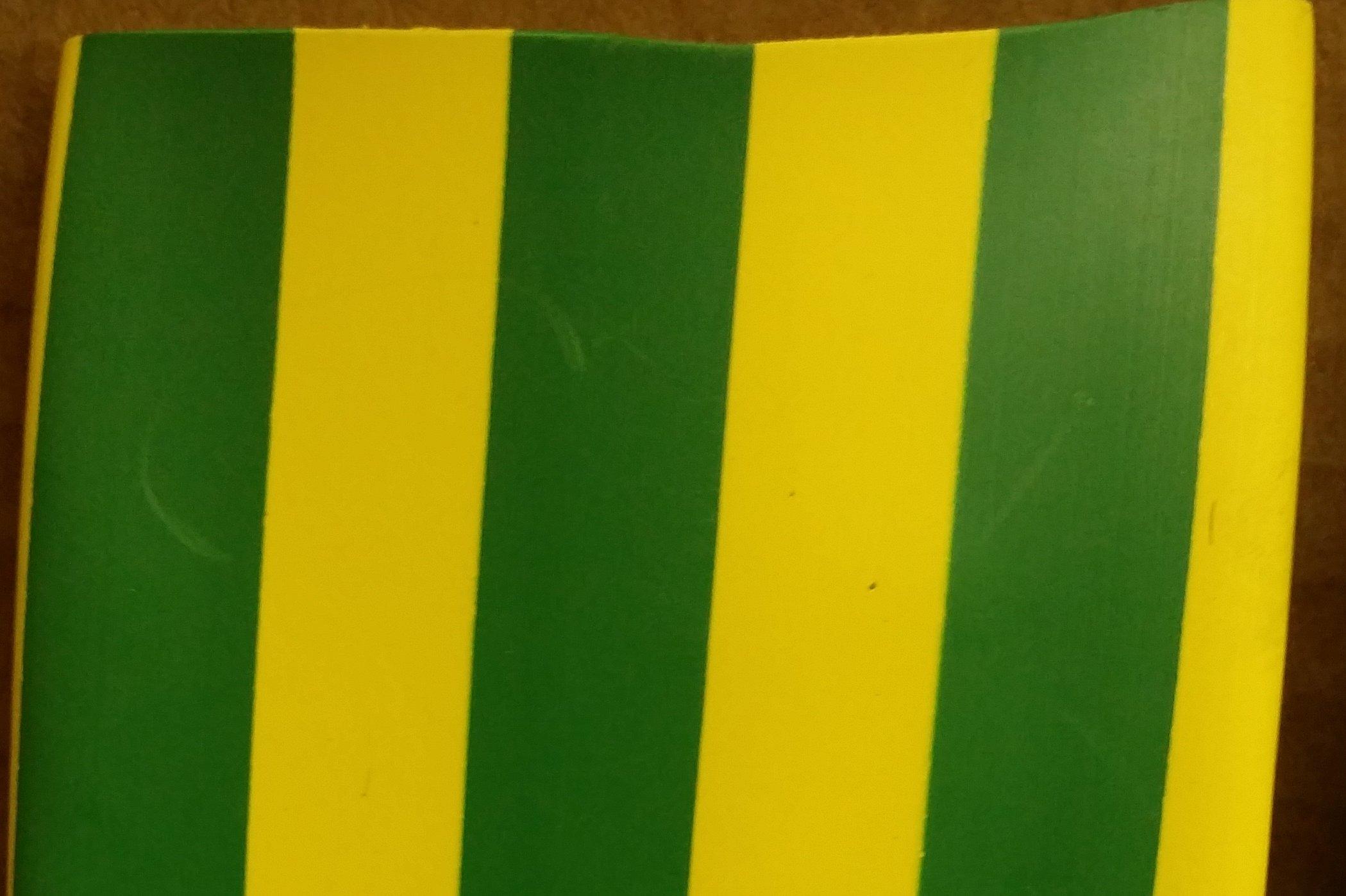 BuyHeatShrink 3/8'' 2:1 Polyolefin Heat Shrink Tubing - Yellow/Green - (250 ft/spool)