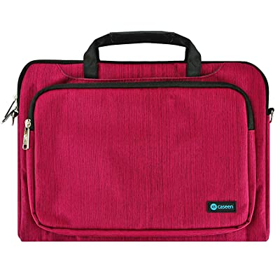 "13"" Inch Laptop Sleeve, 13.3"" Inch Ultrabook Messenger Bag, caseen ENVOY Unisex Laptop Messenger Bag Sleeve Cover Case for up to 13.3"" Laptops / Ultrabooks (Magenta)"