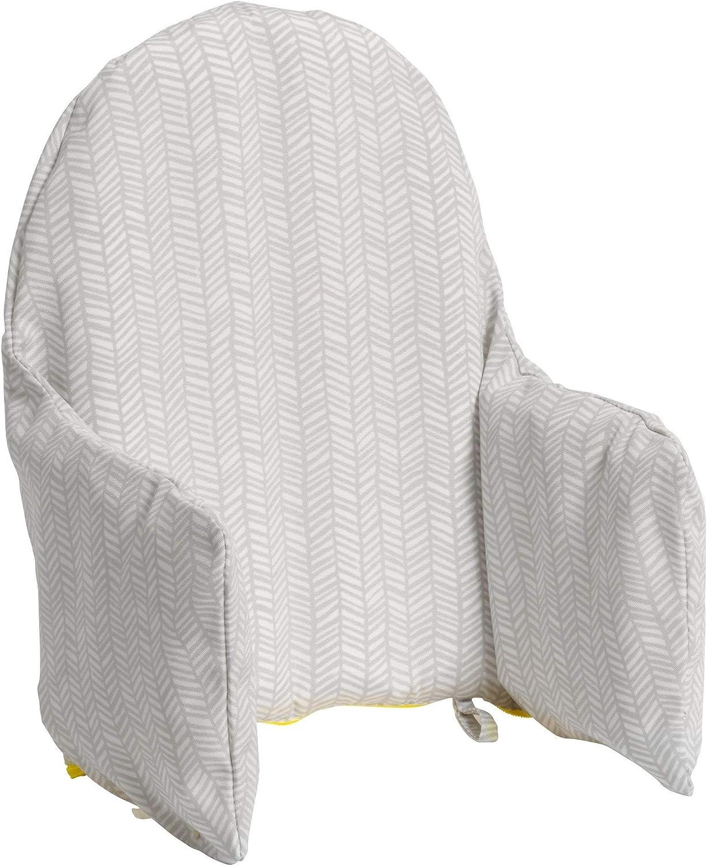 IKEA Antilop superficie de algod/ón y acolchado de algod/ón gris dise/ño de bosque plegable para silla de beb/é Fundas de asiento de algod/ón para silla alta por ZARPMA