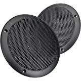 Magnadyne WR45B 5 Inch Waterproof Marine, Boat, Hot Tub, Outdoor Speaker with Integrated Plastic Grill (Sold as a pair in Bla