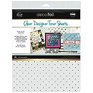 """iCraft Deco Foil Clear Designer Toner Sheets 8.5"""" x 11"""", 4 Sheets per Pack, Polka Dots"""