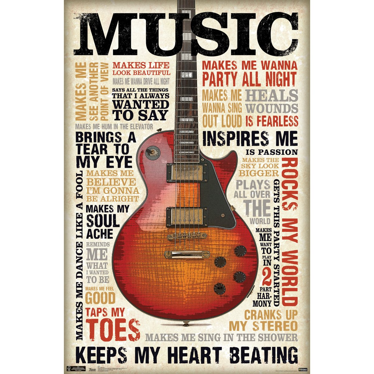 amazon com trends international music inspires me 22 375 x 34 amazon com trends international music inspires me 22 375 x 34 wall poster home kitchen