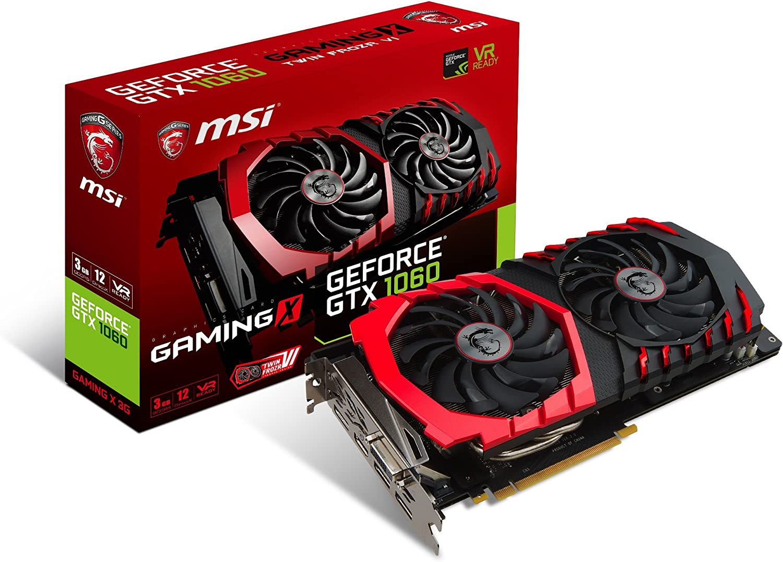 MSI GeForce GTX 1060 Gaming X 3G - Tarjeta gráfica (refrigeración ...