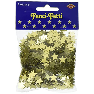 Fanci-Fetti Stars (gold) Party Accessory (1 count) (1 Oz/Pkg): Kitchen & Dining
